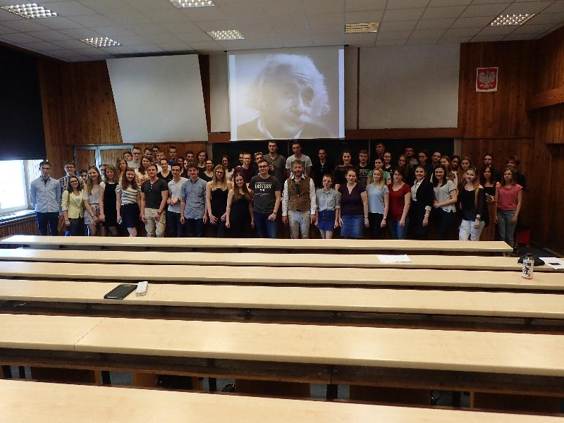 Joseph Octave Indekeu with students
